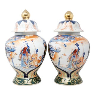 Antique Chinese Temple Jars - a Pair For Sale