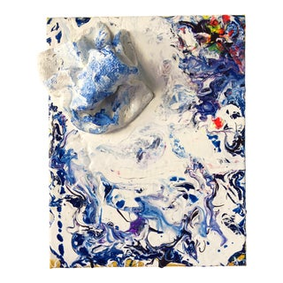 Abstract White Pour For Sale
