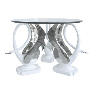 1980s Vintage Swan Center Table For Sale