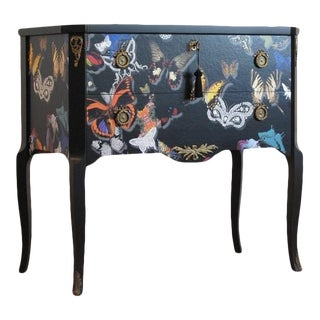 1960s Christian Lacroix Butterfly Patterned Chest For Sale