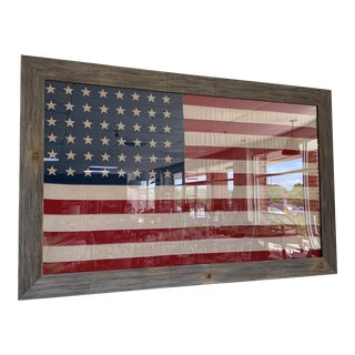 Vintage 48 Star Flag in Acrylic & Wood Frame For Sale