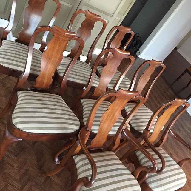 Antique Mahogany Dining Chairs - Set of 8 - Image 4 of 11