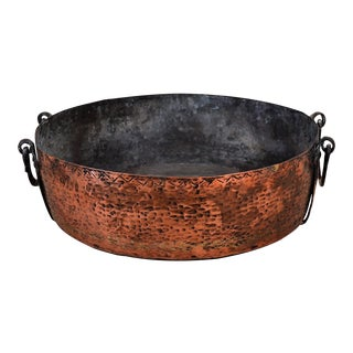 Antique French Hand-Hammered Copper Roasting Pan For Sale