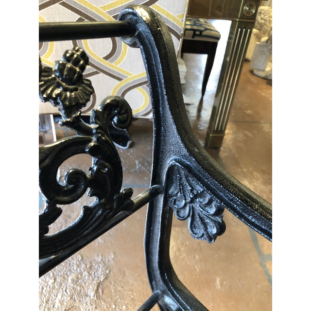 Neoclassical Iron Bench by German Architect Fred Shingle For Sale - Image 9 of 13