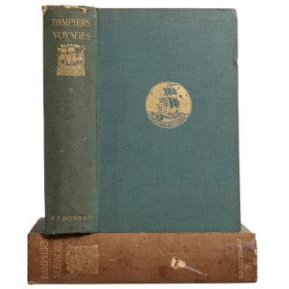 "1906 ""Dampier's Voyages Vols I, Ii"" Collectible Book For Sale"