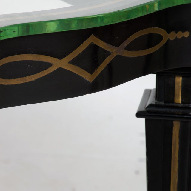 Black Mid-Century Mexican Modernist Fleur De Lis Side Table by Arturo Pani For Sale - Image 8 of 11