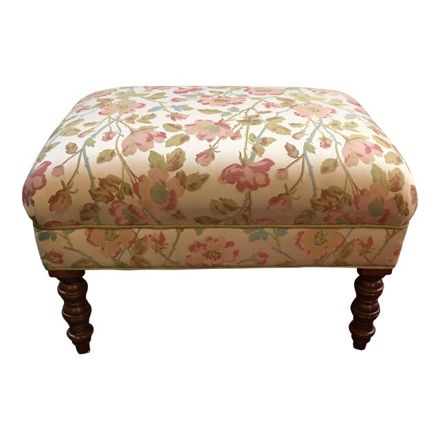 Custom Upholstered Ottoman - Image 1 of 6