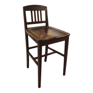 Antique Arts & Crafts Sikes Chair Company Counter Stool For Sale