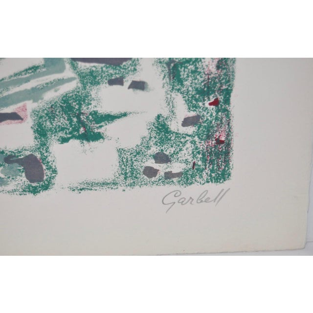 1950s Vintage Original Pencil Signed Lithograph by Alexandre Sacha Garbell For Sale - Image 4 of 6
