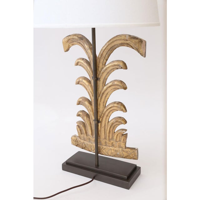 Charcoal Gilded Custom Table Lamp For Sale - Image 8 of 9