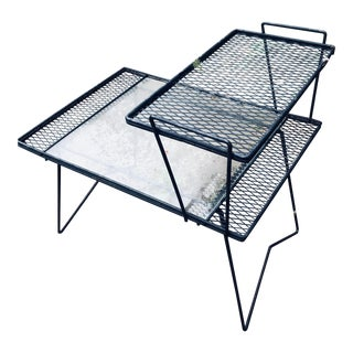1950s Mid-Century Modern Salterini Wrought Iron Side Table For Sale