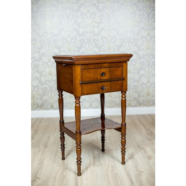 Wood Dresser/Desk/Dressing Table Veneered with Mahogany, circa 1860 For Sale - Image 7 of 13