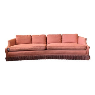 Stunning, Rose Pink Sofa With Fringe For Sale