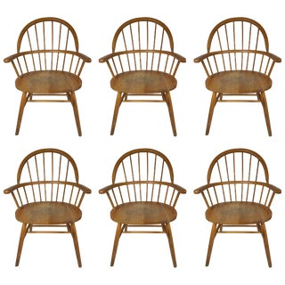 Set of Six Danish Windsor Style Dining Chairs For Sale