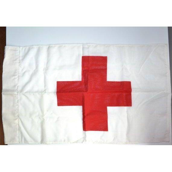 Vintage Red Cross Marker Flag - Image 2 of 5