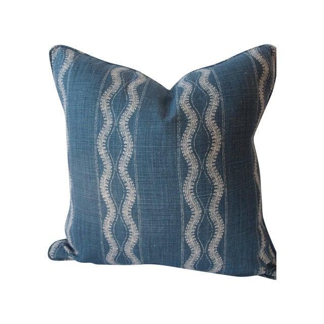 Indigo Blue and White Pillow - Image 1 of 4