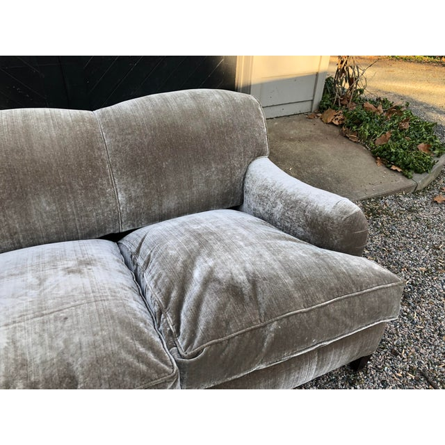 Modern George Smith Taupe Silk Velvet Sofa For Sale - Image 10 of 12