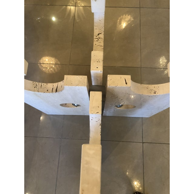 Vintage Modern Marble and Chrome Center or Dining Table For Sale - Image 12 of 14