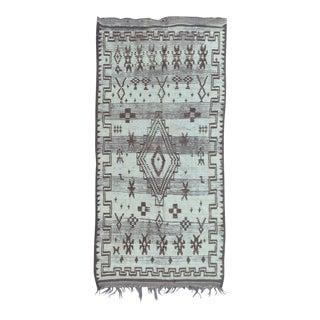 Azilal Vintage Moroccan Rug- 3′10″ × 8′1″ For Sale