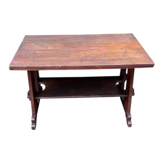 1920s Oak Mission Style Table For Sale