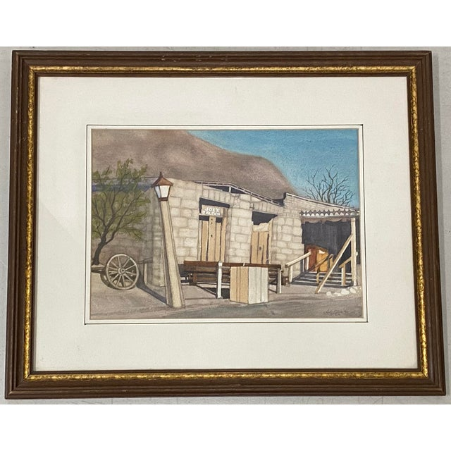 "Art Ellis ""Calico Mine, Joe's Saloon"" Original Watercolor C.1980 For Sale - Image 12 of 12"