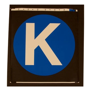 "New York City Subway ""K"" Train Sign For Sale"
