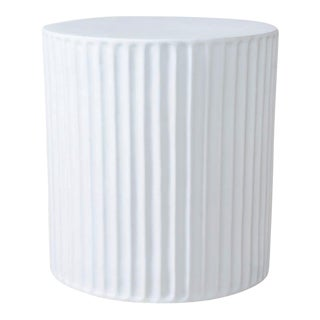 Ming Fluted Porcelain Side Table For Sale