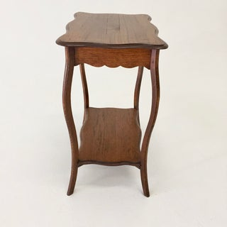 Antique French Oak Side Table With Cabriole Legs Preview