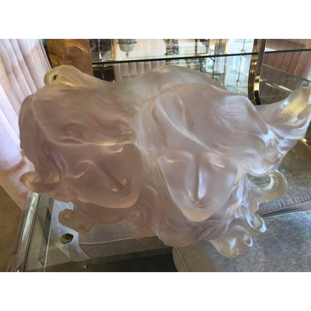 Plastic Art Deco Nouveau Pink Planter Vase Pot For Sale - Image 7 of 12