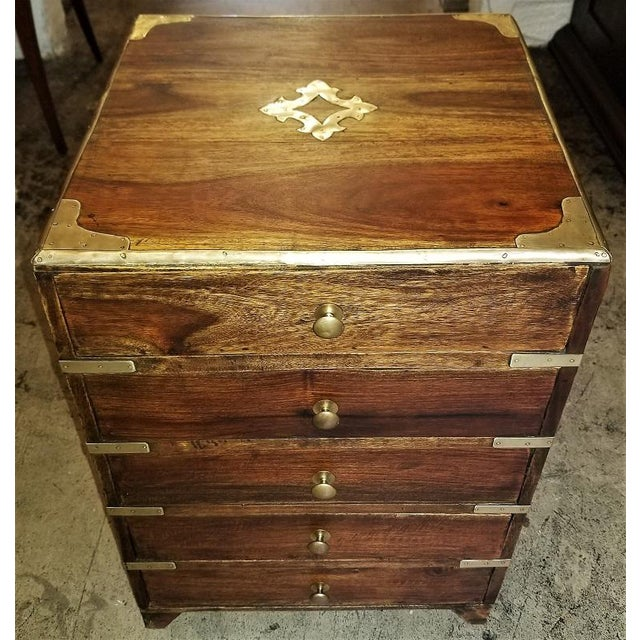 Campaign Style Mini Chest For Sale - Image 13 of 13