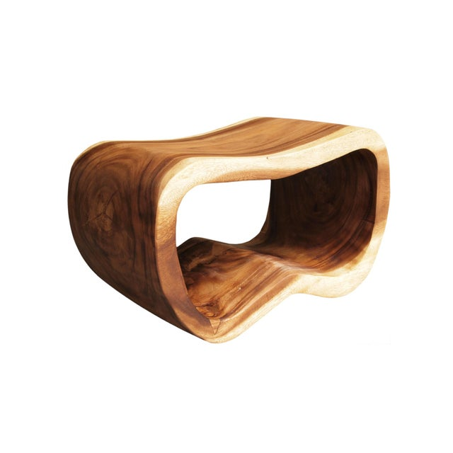 The natural wood peanut stool is a sturdy piece that can be used as a seat or stand. it adds an organic element to any...