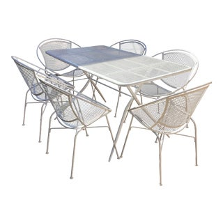 "Mid-Century Maurizio Tempestini for John Salterini ""Hoop"" Patio Table & Chairs Set For Sale"