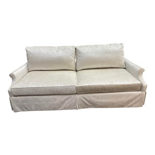 Off-White Neutral Transitional Sofa For Sale