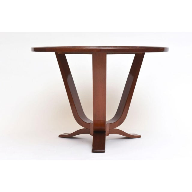 Wood Late Art Deco Mahogany Occasional Table For Sale - Image 7 of 9
