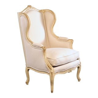 Early 20th Century French Bergere With New Upholstery