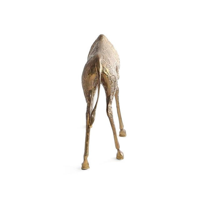 Vintage Cast Bronze Giraffe Medium Sized Sculpture For Sale - Image 4 of 7