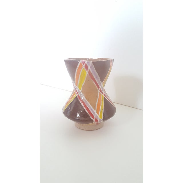 Vintage Studio Pottery Small Sculptural Vase Vessel For Sale In Charlotte - Image 6 of 10