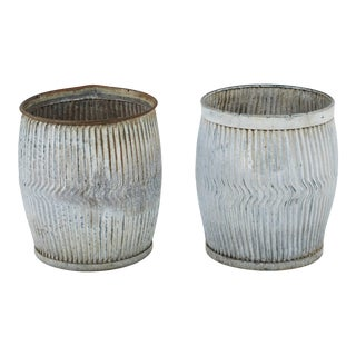 1990s English Zinc Garden Pots- a Pair For Sale