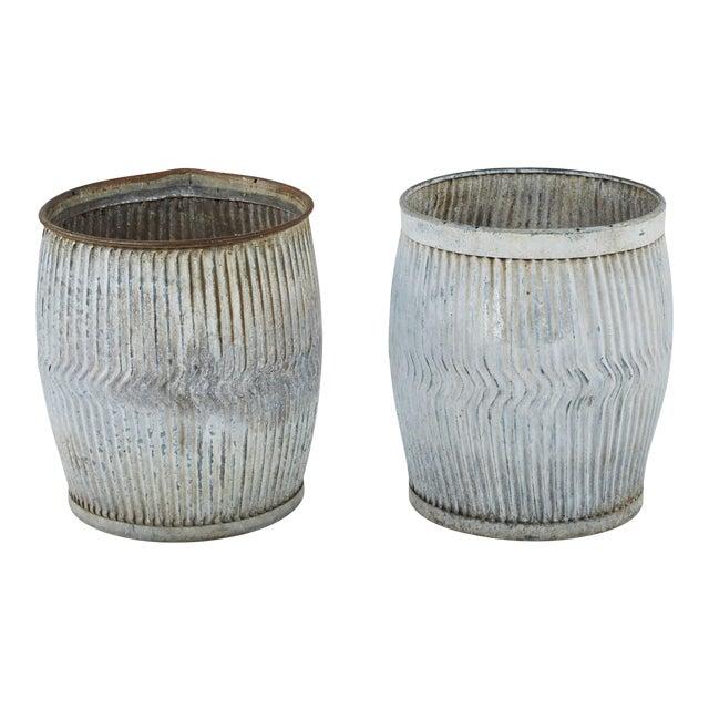 1990s English Zinc Garden Pots - a Pair For Sale