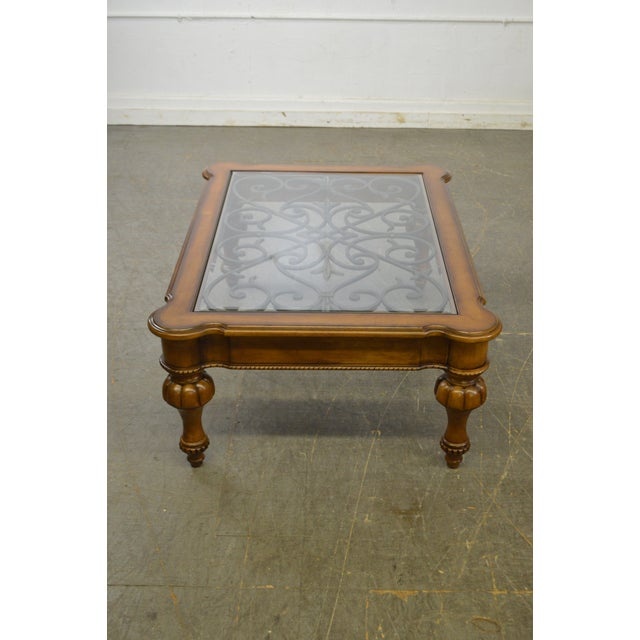 Mediterranean Ethan Allen Devereaux Tuscan Style Coffee Table B For Image 3