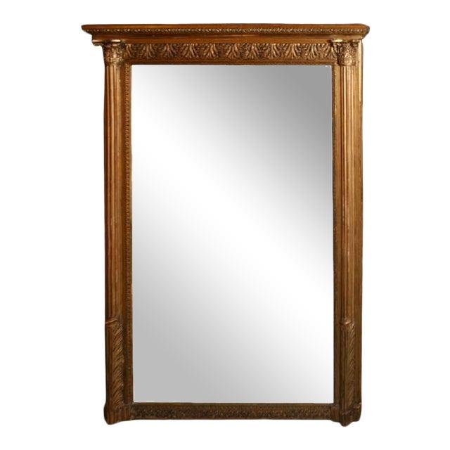Giltwood Louis XVI Style Mirror For Sale