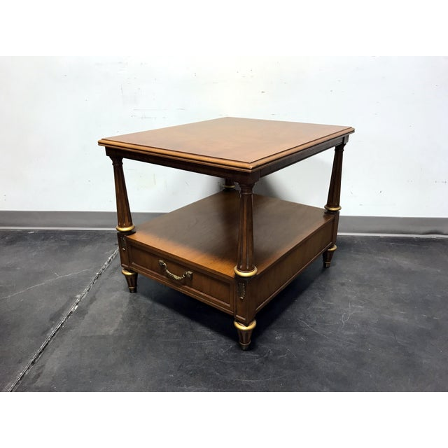 Henredon Mid Century Era Neoclassical Style Side End Table For Sale - Image 9 of 10