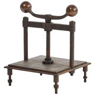 Vintage Iron Book Press For Sale