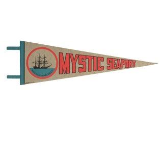Vintage Mystic Seaport Felt Flag Pennant