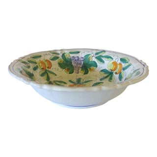 Large Italian Serving Bowl For Sale