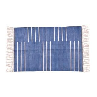 Honesty Rug, 4x6, Blue & White For Sale
