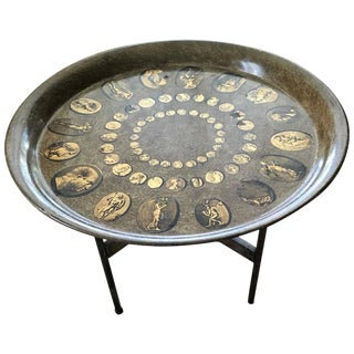 Vintage Fornasetti Tray Table on Stand For Sale