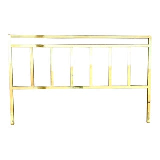 Hollywood Regency Brass King Headboard For Sale