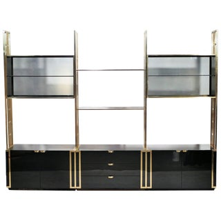 Kim Moltzer Lacquer and Brass Shelves, 1970s For Sale