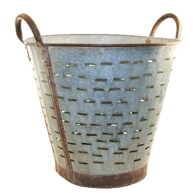 Vintage Olive/Harvest Bucket - Image 1 of 2